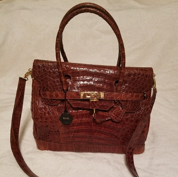 b44904f347ff60 The Michael D Collection Purse Bags | Genuine Crocodile Handbag The ...